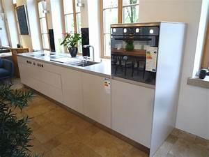 Küchenzeile 3 Meter : bulthaup musterk che k chenzeile platin mattlack ~ Watch28wear.com Haus und Dekorationen