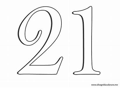 Numero Colorear Umero Colorare Disegni Numeri Template