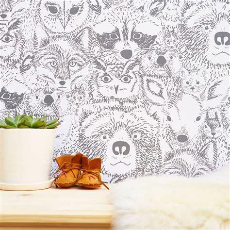Animal Removable Wallpaper - thing removable wallpaper animal nursery