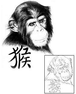 monkey tattoo design ftf  tattoojohnnycom
