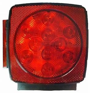 Blazer Square Led Combo Stop  Tail   U0026 Turn Trailer Light