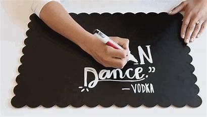 Chalkboard Trick Fancy Sign Genius Making Writing