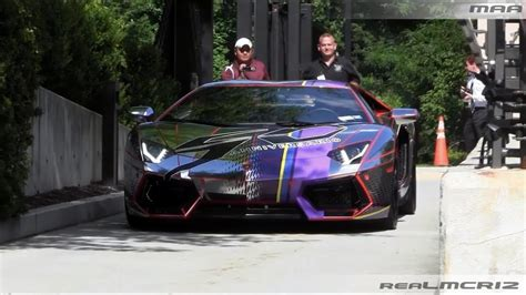 chrome lamborghini aventador lp    led lights revs