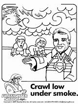 Coloring Safety Pages Fire Sparky Printable Print Smoke Crawl Under Child Low Downloads Craw Getcolorings Recommended Staff Index sketch template