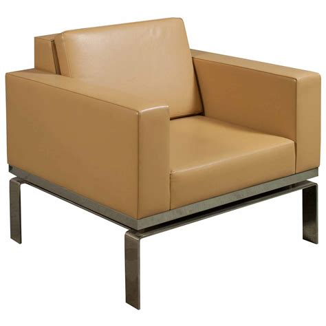 bernhardt one series used leather reception chair