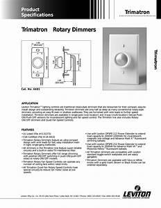 Dimmer Switch 6683 Wiring