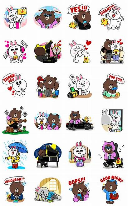 Line Cony Brown Sticker Stickers Min Lee