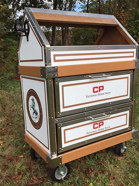 tack boxes horse jock equestrian national saddle heads month center gold cp customized receive winners lucky rack edition courtesy team