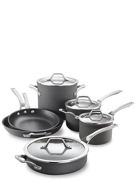 Calphalon Kitchen Essentials Non Stick Cookware by Calphalon 174 Signature 10 Non Stick Cookware Set Belk