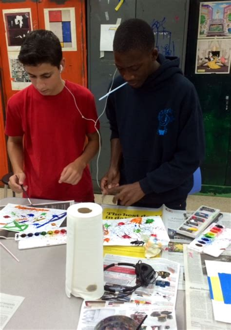 grade art class kandinsky inspired project school future