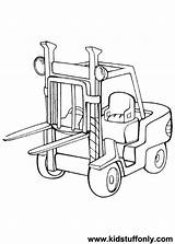 Coloring Forklift Pages Printable Getcolorings Pa Getdrawings sketch template