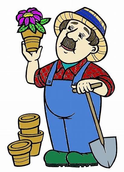 Clipart Clip Garden Community Gardener Tools Gardening