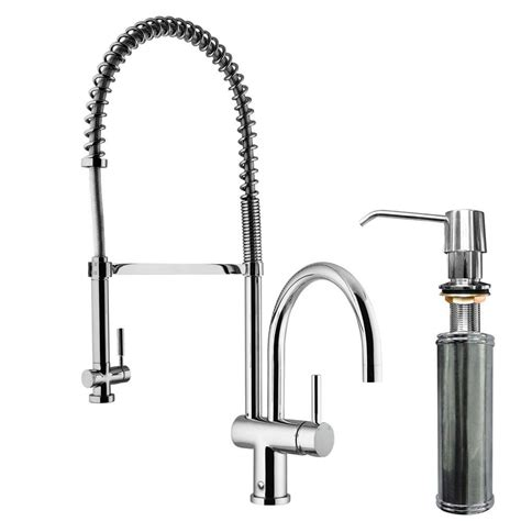 kitchen faucet with soap dispenser vigo single handle pull sprayer kitchen faucet with