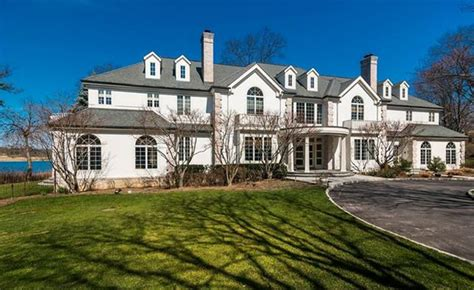 square foot waterfront colonial mansion  rye ny homes   rich