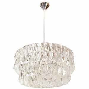 Kinkeldey tier rectangular crystal prism chandelier at