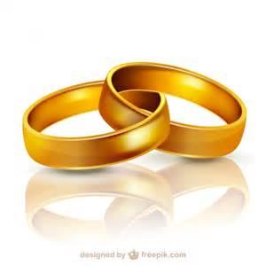 anneaux de mariage or anneaux de mariage illustration télécharger des vecteurs gratuitement