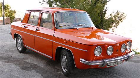 renault old an old orange four door renault 8 in good looking