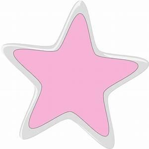 Silver Pink Star Clip Art at Clker.com - vector clip art ...