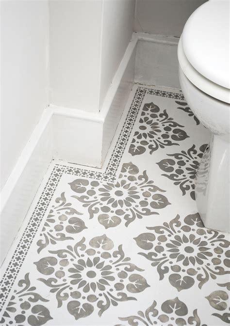 Stencilled Floor Decorate Decorate