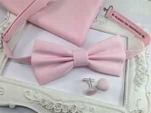 Noeud Papillon Rose Poudré : set noeud papillon pochette costume et boutons de ~ Melissatoandfro.com Idées de Décoration
