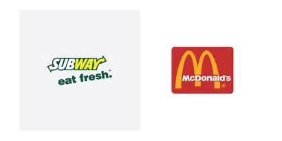 Logos Subway Mcdonalds Vs Donuts Dunkin Brands