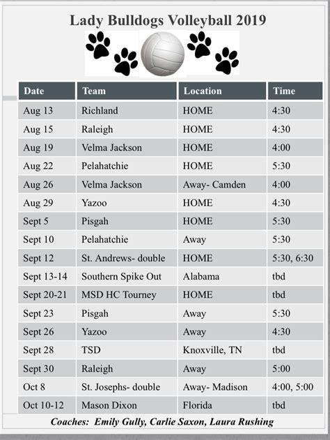 lady bulldogs volleyball schedule ms school   deaf