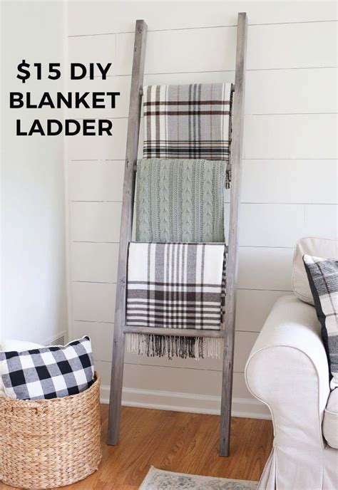 easy diy blanket ladder easy home decor diy blanket
