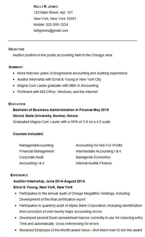 college resume template sample examples