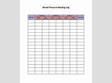 30+ Printable Blood Pressure Log Templates Template Lab