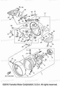 Yamaha Motorcycle 2009 Oem Parts Diagram For Headlight