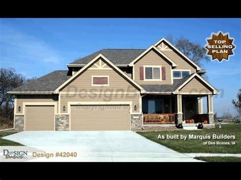 Home Design Basics by Design 42040 Sun Flower Craftsman Styled 2 Story House