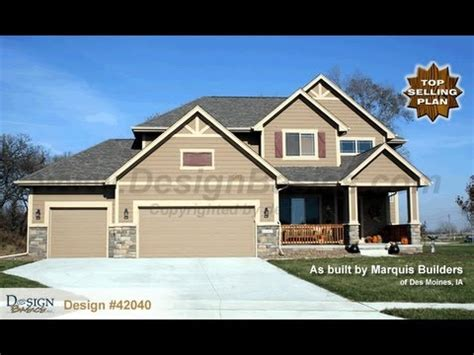 Design #42040 Sun Flower  Craftsman Styled 2story House