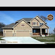 Design #42040 Sun Flower  Craftsman Styled 2story House