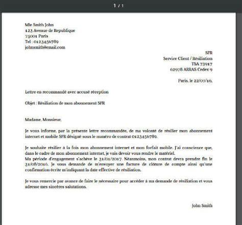 cancelling internet phone plans la lettre de resiliation