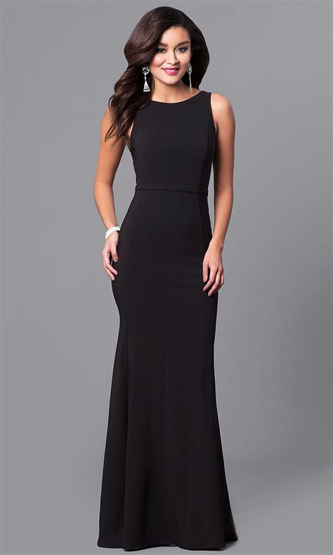 sequined   long black prom dress promgirl
