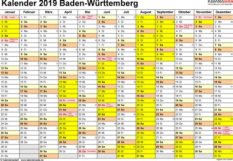 Bekijk hier de online kalender 2021. Ferienkalender 2019 Excel - Kalender Plan