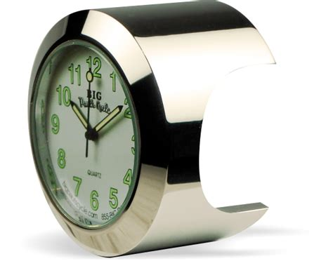 Big Paul's Cycle Vibrant White Face Motorcycle Handlebar Clock