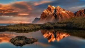 Mountain, Reflection, Lake, Water, Clouds, Landscape