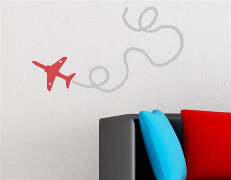 red arrow plane wall sticker contemporary wall stickers