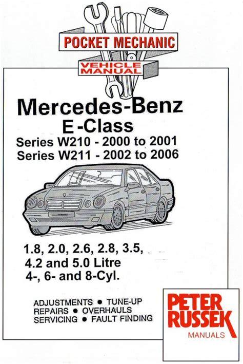 free car repair manuals 2006 mercedes benz e class engine control 2000 2006 mercedes benz e class w210 2000 2001 w211 2002 2006 4 6 8 cylinder