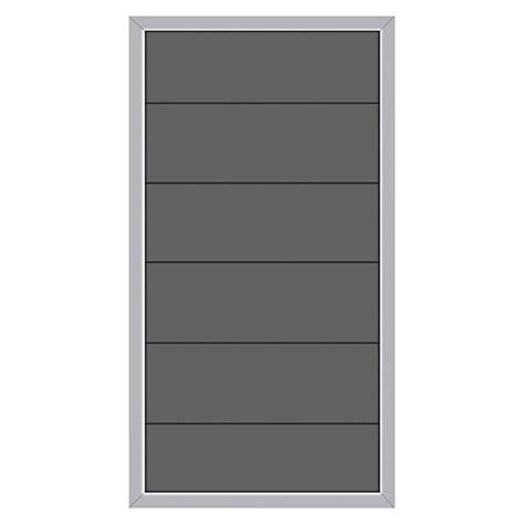 Sichtschutz Halbelement (wpc, 90 X 180 Cm) Bauhaus