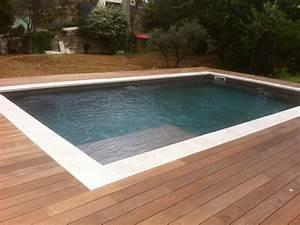 agencement d39un tour de piscine en bois exotique ipe With tour de piscine en bois