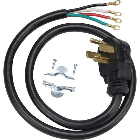 home depot l cord ge 4 ft 4 prong 30 amp dryer cord wx09x10018ds the home