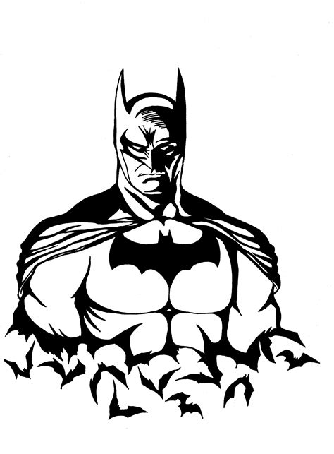 batman clipart black  white  clip art