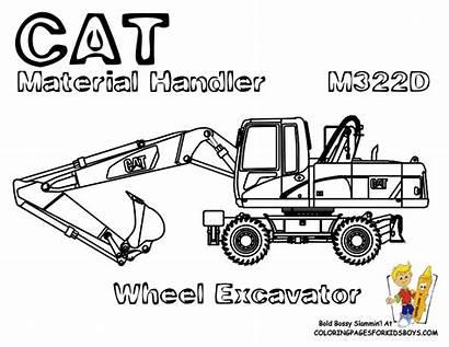 Baumaschinen Coloring Malvorlagen Equipment Cat Ausmalbilder Construction