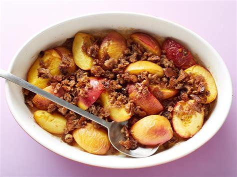 healthy peach betty recipe food network kitchen food
