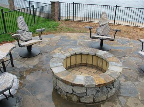 pit sets with seating fireplace design ideas