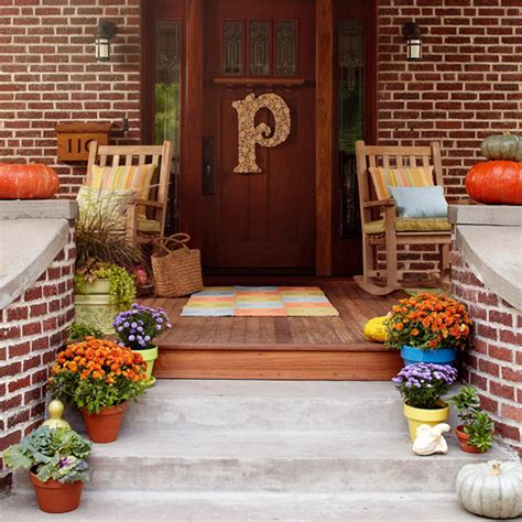 Ideas For Fall Front Porch by Picture Of Fall Front Porch Decorating Ideas