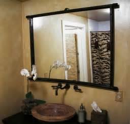 mirror ideas for bathrooms wood bathroom mirror ideas this for all