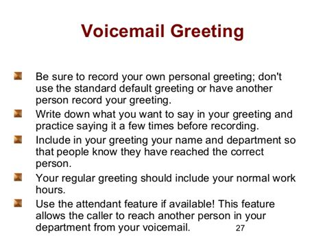 Professional personal voicemail greeting examples m4hsunfo